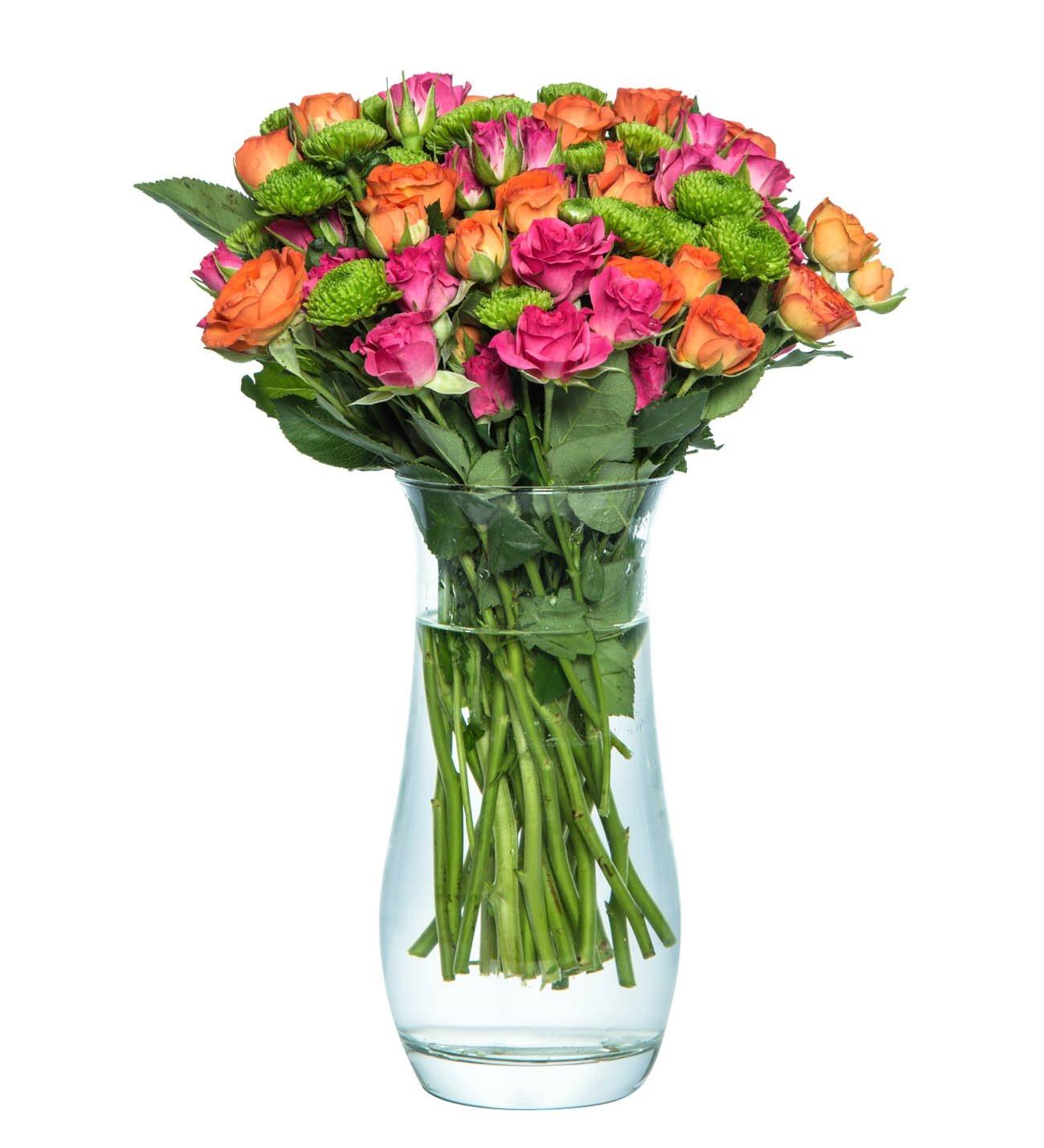 Çardak Gülleri Cam Vazoda